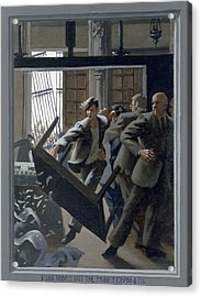 3. Jesus Drives Out The Money Changers / From The Passion Of Christ - A Gay Vision Acrylic Print by Douglas Blanchard