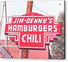 Jim Denny's Acrylic Print by Paul Guyer