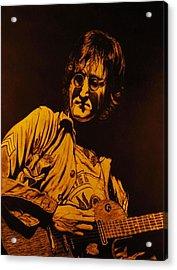 John Lennon 1972 Acrylic Print by Charles Rogers