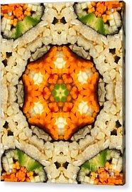 Kaleidoscope Vegetable Sushi Acrylic Print by Amy Cicconi