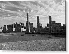 Kourion-temple Of Apollo Acrylic Print by Augusta Stylianou