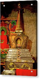 Ladakh, India The Interior Of The Hemis Acrylic Print by Jaina Mishra