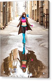 Lady Gambit  Acrylic Print by Andreas Schneider