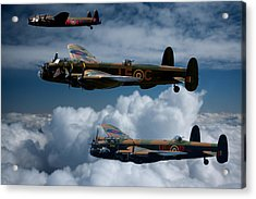 3 Lancaster Bombers Acrylic Print