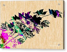 Leaves Painting Acrylic Print