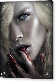 Lestat Licks Blood Acrylic Print by Omri Koresh