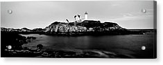 Lighthouse At A Coast, Nubble Acrylic Print by Panoramic Images
