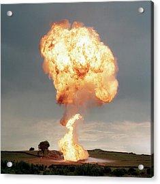 Liquid Petroleum Gas Tank Failure Testing Acrylic Print
