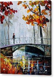 Little Bridge Acrylic Print by Leonid Afremov