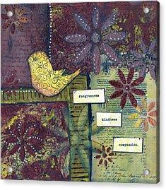 3 Little Words Acrylic Print by Sue Brassel