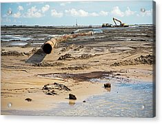 Louisiana Wetlands Restoration Project Acrylic Print by Jim West