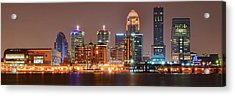Louisville Panoramic View Acrylic Print by Frozen in Time Fine Art Photography