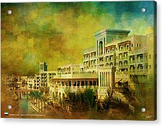 Madinat Jumeirah Acrylic Print by Catf