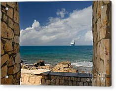 Majesty Of The Seas At Coco Cay Acrylic Print by Amy Cicconi