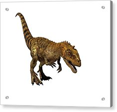 Majungasaurus Dinosaur Acrylic Print by Mikkel Juul Jensen