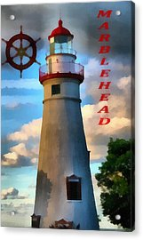 Marblehead Lighthouse Acrylic Print by Dan Sproul