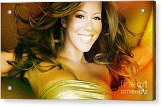 Mariah Carey Acrylic Print by Marvin Blaine