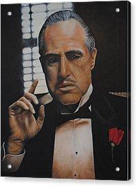Marlon Brando The Godfather Acrylic Print