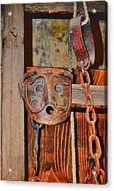 Masks Medieval Inquisition. Next To Charles Bridge. Prague. Czech Republic. Acrylic Print by Andy Za