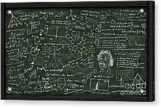 Maths Formula On Chalkboard Acrylic Print