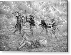 Acrylic Print featuring the photograph Medieval Battle by Jaroslaw Grudzinski