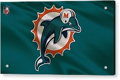 Miami Dolphins Uniform Acrylic Print by Joe Hamilton