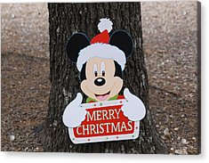Mickey Mouse Acrylic Print by Dick Willis