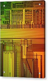 Microprocessor Components Acrylic Print