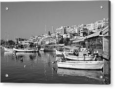 Mikrolimano Port Acrylic Print by George Atsametakis