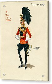 Military Uniform Caricatures Acrylic Print by Celestial Images