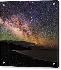 Milky Way Over La Palma Acrylic Print