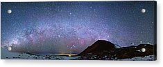 Milky Way Over Telescopes On Hawaii Acrylic Print by Walter Pacholka, Astropics