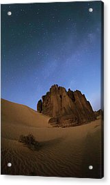 Milky Way Over The Sahara Desert Acrylic Print by Babak Tafreshi