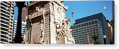 Monument In A City, Soldiers Acrylic Print by Panoramic Images