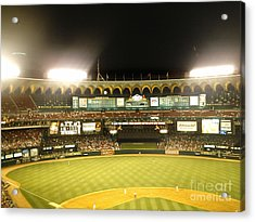 Acrylic Print featuring the photograph Moon In The Arches by Kelly Awad