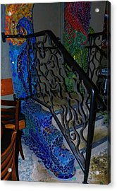 Mosaic Doorway Acrylic Print by Charles Lucas