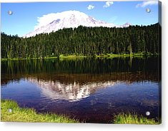 Mt Rainier Acrylic Print by Jerry Cahill