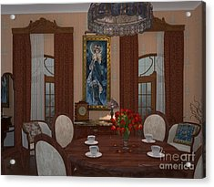 My Art In The Interior Decoration - Elena Yakubovich Acrylic Print by Elena Yakubovich