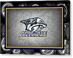 Nashville Predators Acrylic Print by Joe Hamilton