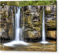 Natural Dam Falls Acrylic Print by Twenty Two North Photography