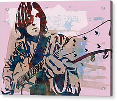 Neil Young Pop Artsketch Portrait Poster Acrylic Print by Kim Wang