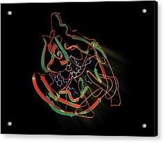 Neuraminidase Acrylic Print by Hipersynteza
