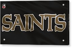 New Orleans Saints Uniform Acrylic Print