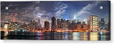 New York City Manhattan Midtown At Dusk Acrylic Print