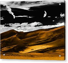 Night At The Great Sand Dunes Acrylic Print