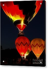 Night Of The Balloons Acrylic Print by Raymond Earley