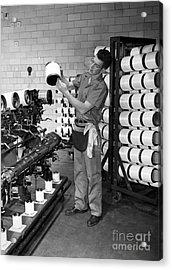 Nylon Production, 1950s Acrylic Print by Hagley Archive