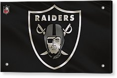 Oakland Raiders Uniform Acrylic Print by Joe Hamilton