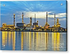 Oil Refinery Acrylic Print