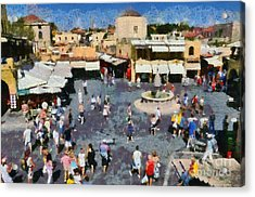 Old City Of Rhodes Acrylic Print by George Atsametakis